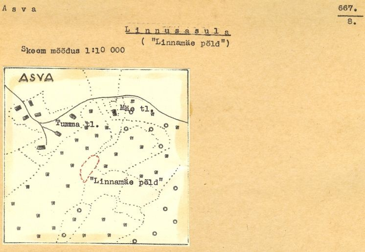 8 - arheoloogiamälestise pass. V. Lõugas 1973. a. MKA arhiiv.