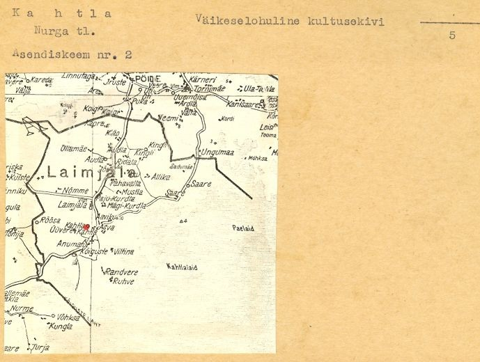 5 - arheoloogiamälestise pass. V. Lõugas, 1978. a. MKA arhiiv.