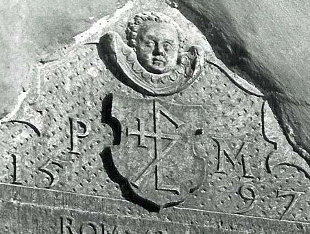 Tekstitahvel. 1597 (paas). Detailvaade. Foto: arhiiv, TMN 1980.a-d