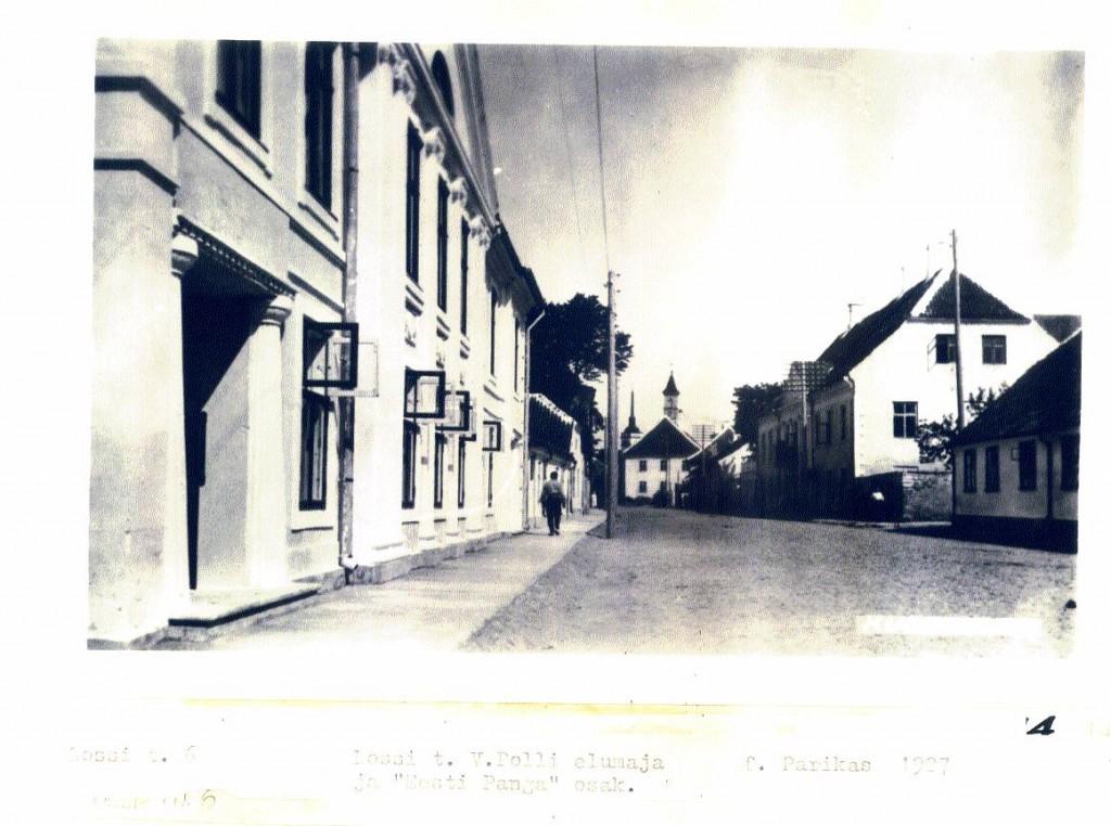 Lossi tn, V. Polli elumaja 1927 (foto: Parikas). MKA arhiiv.