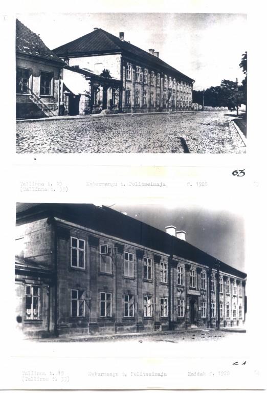 Tallinna tn kohtuhoone, fotod: 1920 ja 1928 (MKA arhiiv, Kuressaare LV arhiiv). Autor nimetamata.