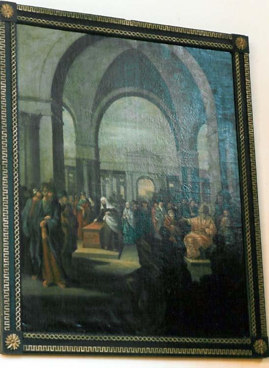"Maal ""Lesknaise ohvriand"". J. Hau, 1797 (õli, lõuend). Foto: J.Heinla 2002"