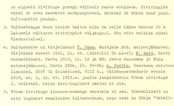 1-p - arheoloogiamälestise - linnus, reg nr 12563 - pass. Koostanud: J. Selirand, 1973.