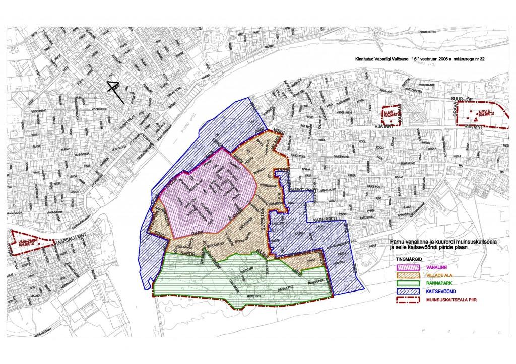 Pärnu vanalinna ja kuurordi muinsuskaitseala plaan