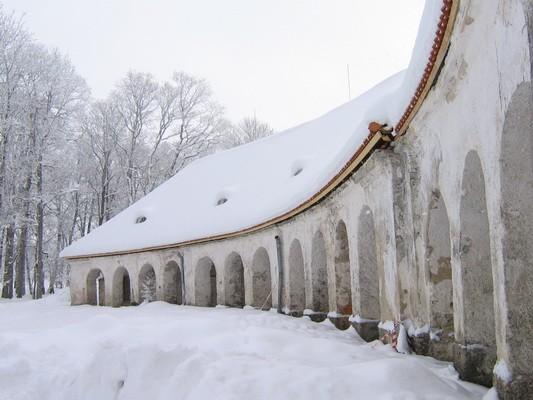 Vaade lõunapoolsele tiibhoonele,näha  uus katuseräästas.  Autor: Anne Kaldam. pilt  aeg: 17.02.2010