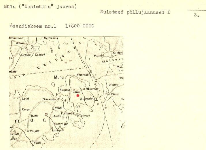 3 - arheoloogiamälestise pass, muistsed põllud, reg nr 12511.  Koostanud: Vello Lõugas 1984. a.