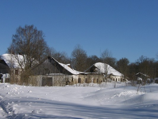 vaade lõunafassaadile,katus on sisse varisenud. nr.15641 autor. Anne Kaldam  kuupäev 09.03.2010