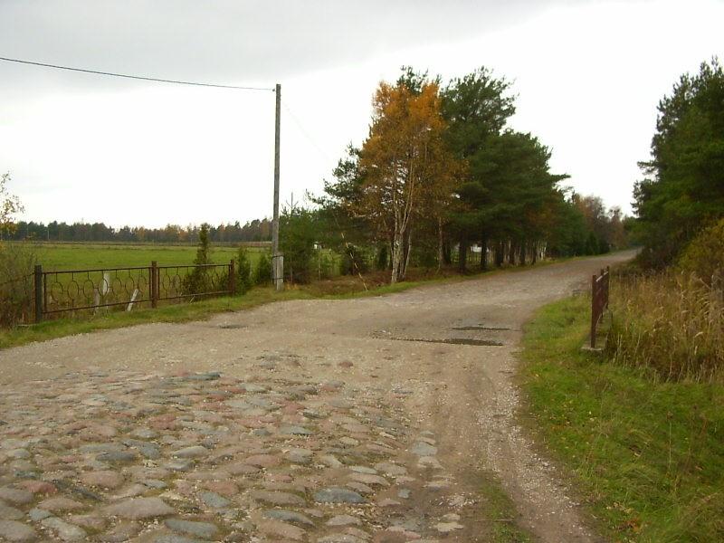 Kihelkonna-Papissaare munakivitee. Foto: L.Hansar. Kuupäev  22.10.2004