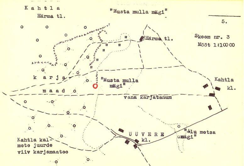 (Saaremaa arheoloogiamälestiste passid). Asendiskeem.