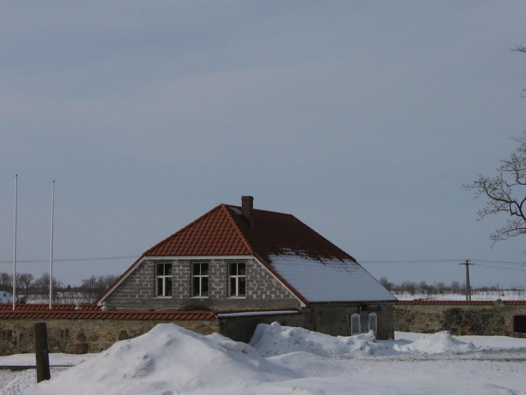 Malla mõisa kelder 2, 16017,vaade peahoone poolt- keldri sein alles.  autor: Anne Kaldam aeg: 26.03.2010