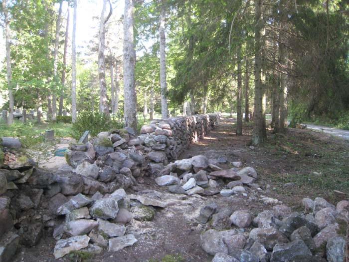 Vaade taastamisjärgus olevale kiviaiale.  Autor: M.Koppel, 2009