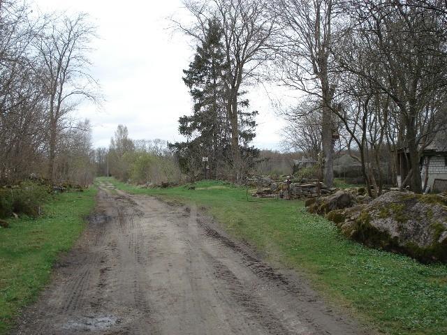 Vaade Rauna talu hoovi põhjaosale lõunast. Foto: Vimberg, 2010.
