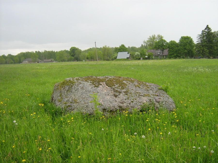 Kultusekivi reg nr 10613, vaade põhjast. Foto: M. Abel, 28.05.2010.