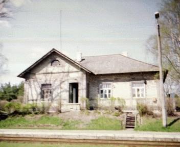 Peeter Suure Merekindluse raudtee Liiva jaamahoone, 1917. a. (varasem foto)