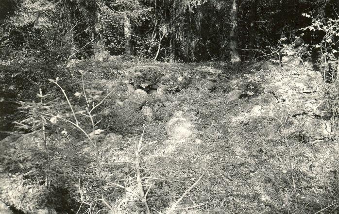 Kivikalme lähedalt - idast. Foto: E. Väljal, 15.05.1983.