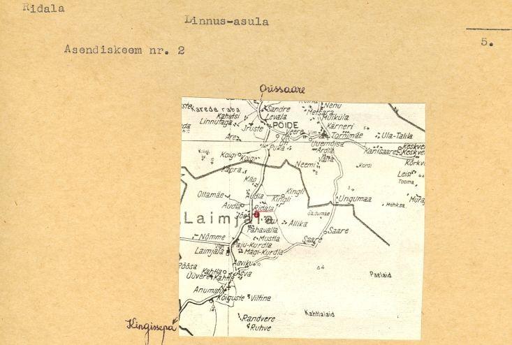 pass - 5 - arheoloogiamälestise pass. V. Lõugas, 1977. MKA arhiiv.