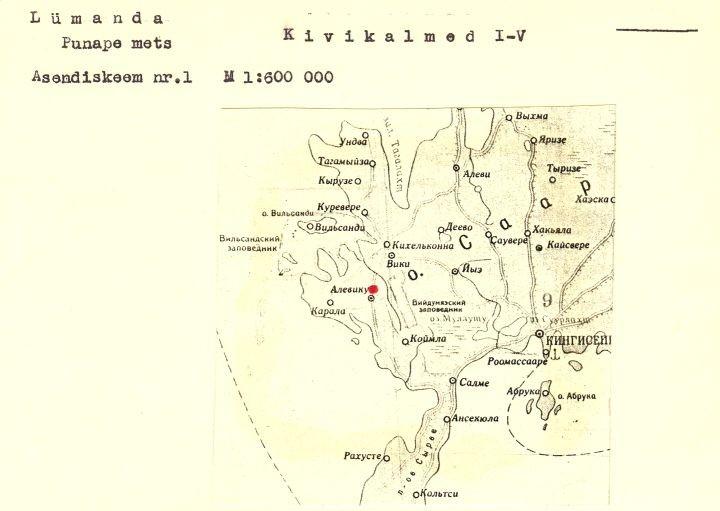 4 - arheoloogiamälestise pass. Koostanud: Vello Lõugas 1981 (MKA arhiiv).
