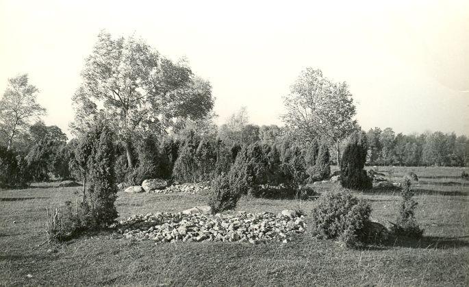 Kivikalmed (reg nr 12710-12724) - idast. Foto: E. Väljal, 06.10.1982.