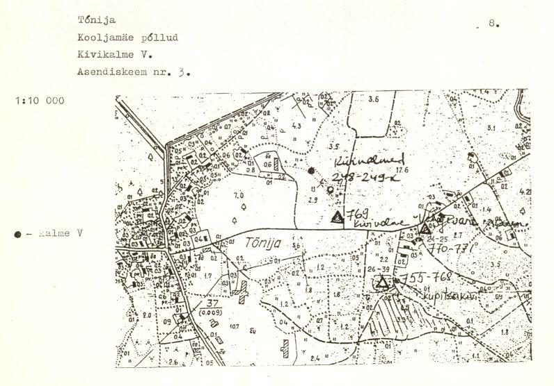 Kivikalme - arheoloogiamälestise pass (lk 8) Koostanud: Marika Mägi-Lõugas, 1996. a.