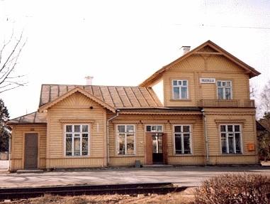 Laiarööpmelise raudtee Pääsküla jaamahoone, 1916. a.