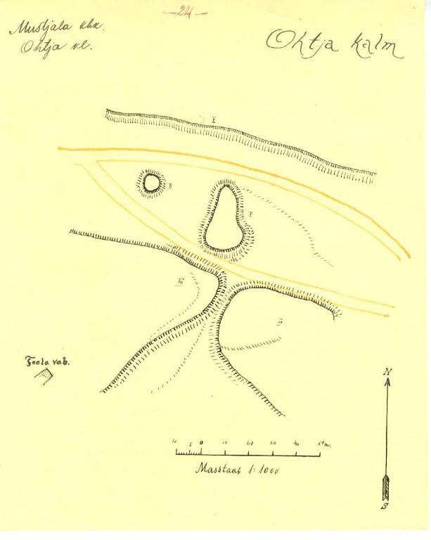 Ohtja kalme plaan, AI arhiiv - Mustjala kihelkonna muinasjäänused 1922.