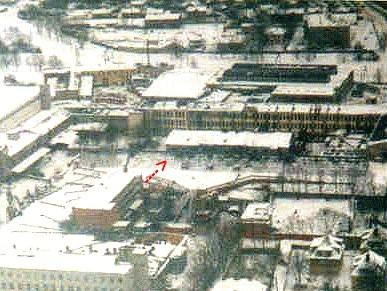 A/s A.M.Luther Vineeri- ja Mööblivabriku tootmishoone uue vabrikuhoone hoovis, 1912. a.