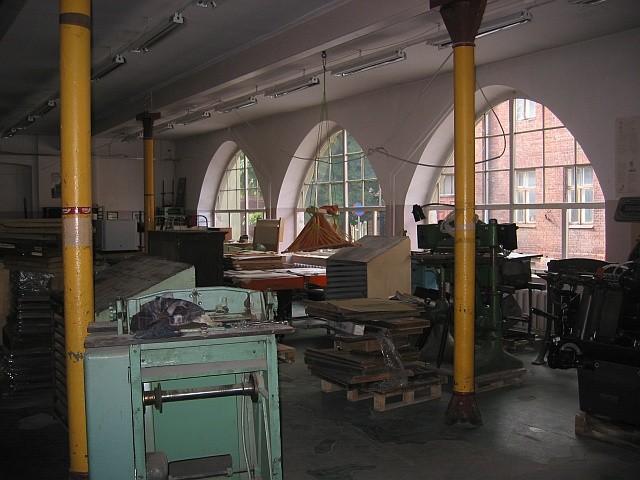 Kastani 38 esimese korruse trükimuuseumi ruum Foto: 16.09.2010, Egle Tamm