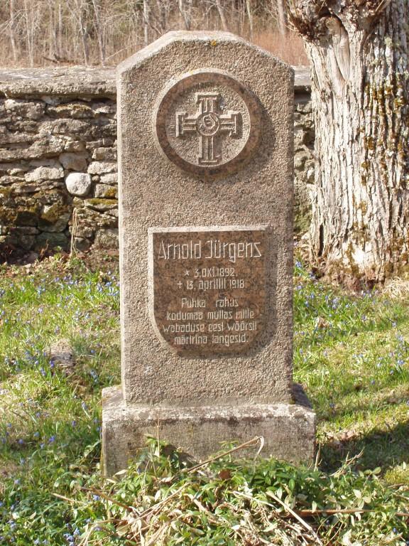 Arnold Jürgensi (1892-1918) haud, reg. nr 5758. Foto: I. Raudvassar, kuupäev 29.04.2005
