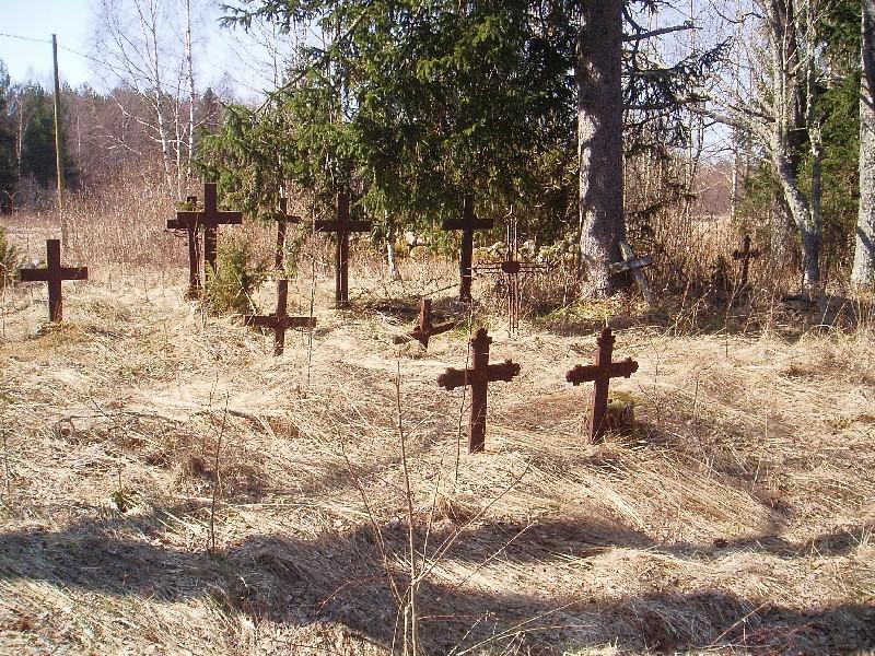 Pihlaspea kalmistu, reg. nr 5796. Vaade idast. Foto: E. Ohov, kuupäev 05.05.2005