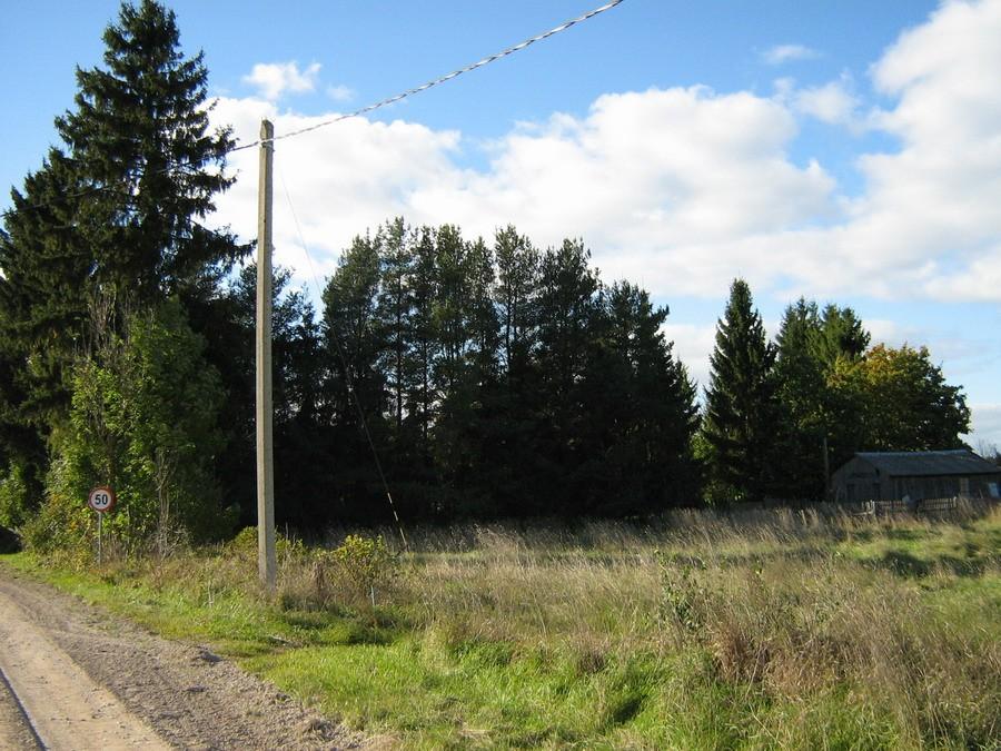 Vaade idast teest põhja poole. Foto: Kalli Pets, 29.09.2010.