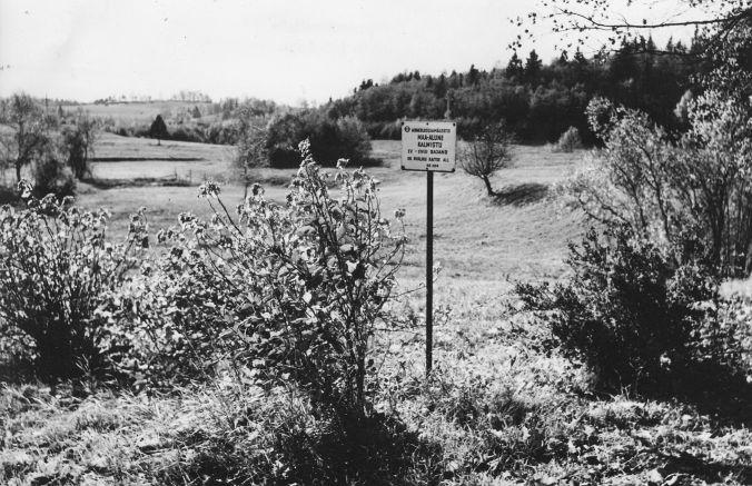 Maa-alune kalmistu. Foto: M. Pakler, 1971.