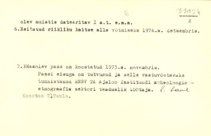 PASS 1975. T. Tamla. Leht 2