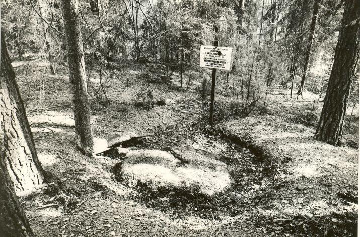 Ohvrikivi. Foto: M. Pakler, 22.04.1980.