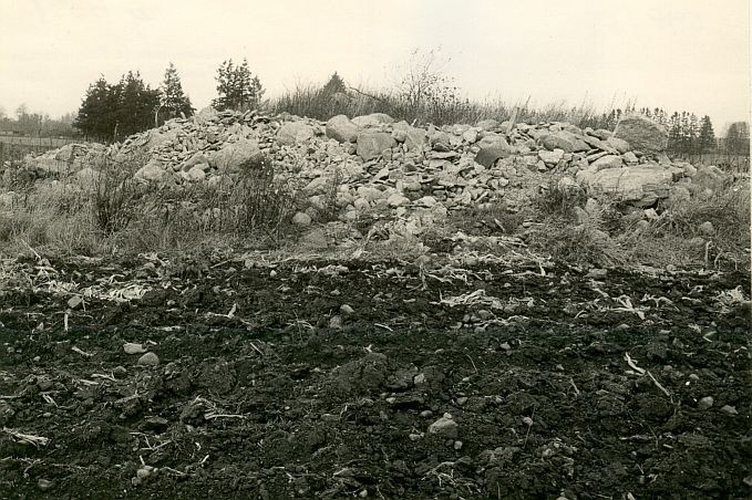 E.Väljal, vaade kivikalmetele nr 18065 ja 18066 kagust.