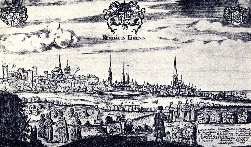 Vanalinn idast. A.Olearius 1635.