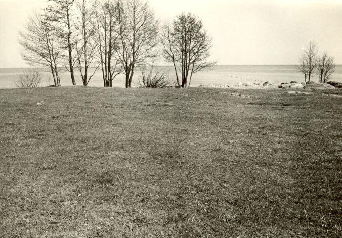 Maa-alune kalmistu - läänest. Foto: E. Väljal, 16.05.1985.
