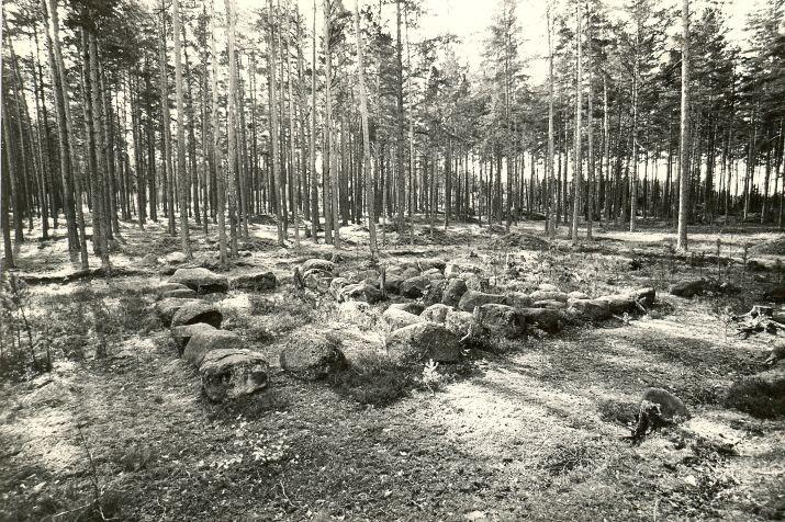 Kivikalme. Foto: M. Pakler, 27.09.1979.