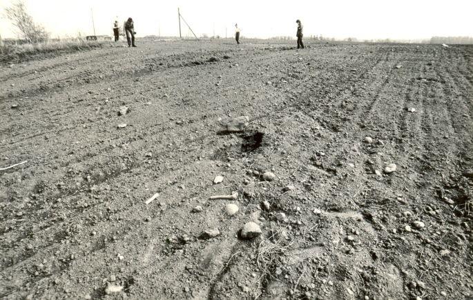 Maa-alune kalmistu - edelast. Foto: M. Pakler, 14.05.1987.