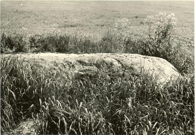 Kultusekivi - lõunast. Foto: H. Joonuks, 1977.