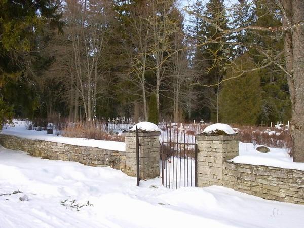 Piirdemüür ja värav lääneküljes  Autor Kalli Pets  Kuupäev  23.03.2006