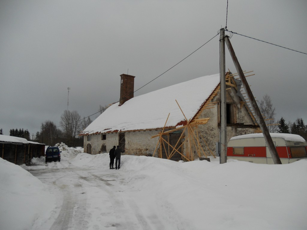 Vaade kuivatile talvepäeval. Restaureerimine on pooleli. 19.01.2011 Pildi lisaja: Viktor Lõhmus