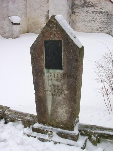 Veidermannide hauatähis  Autor Kalli Pets  Kuupäev  23.03.2006