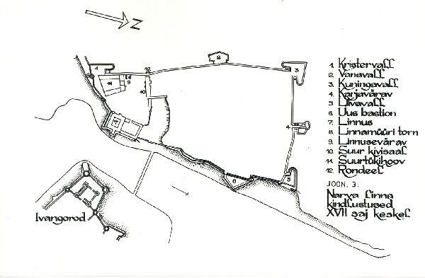 Narva linnakindlustused 17. saj. keskel