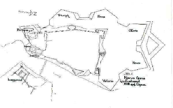 Narva linnakindlustused 17. saj. lõpus