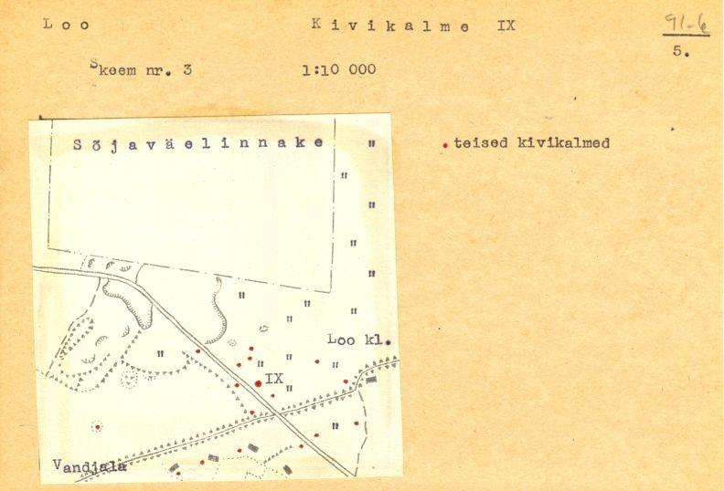 PASS 1973. V. Lõugas. Leht 5. Mälestis tähistatud skeemil numbriga IX.