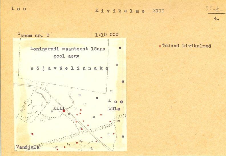 PASS 1973. V. Lõugas. Leht 4. Kalme tähistatud skeemil numbriga XIII.