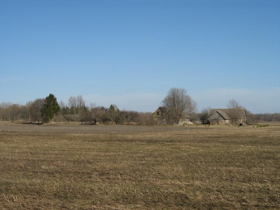 Asula läääneosa vaade maanteelt lääne poolt. 22.04.2011.