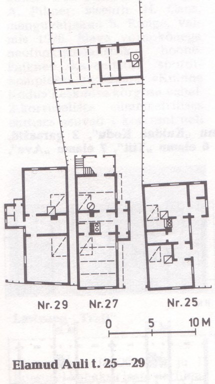 Elamute Auli 25-29 põhiplaanid