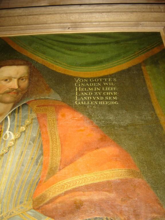 "Maal ""Kuramaa ja Semgallia hertsog Wilhelmi paraadportree"". J. Siegmund (koopia 1615. a. maalist), 1895 (õli, lõuend). Detail. Foto: S.Simson 23.01.2007"
