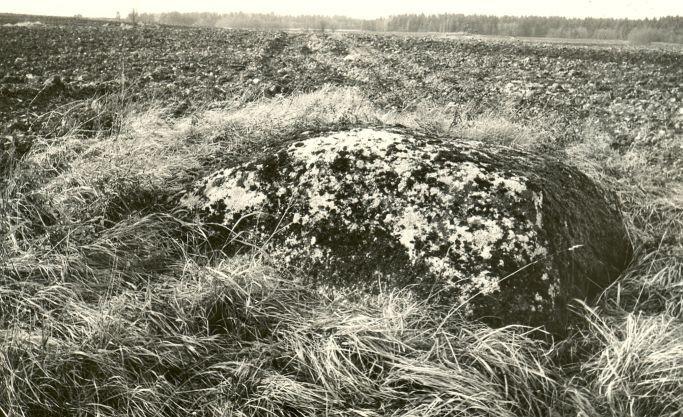 Kultusekivi - idast. Foto: E. Väljal, 27.10.1986.